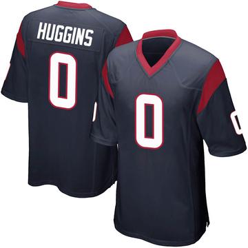 Men's Nike Houston Texans Albert Huggins Navy Blue Team Color Jersey - Game