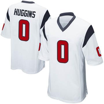 Men's Nike Houston Texans Albert Huggins White Jersey - Game