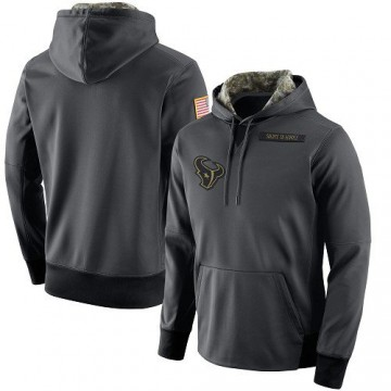 Men's Nike Houston Texans Anthracite Salute to Service Player Performance Hoodie -