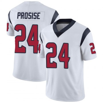 Men's Nike Houston Texans C.J. Prosise White Vapor Untouchable Jersey - Limited