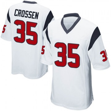 Men's Nike Houston Texans Keion Crossen White Jersey - Game