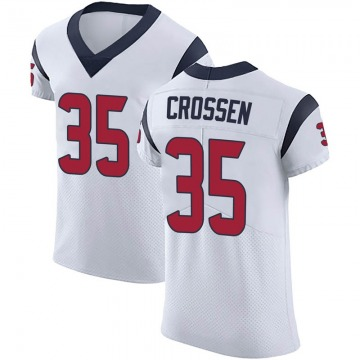 Men's Nike Houston Texans Keion Crossen White Vapor Untouchable Jersey - Elite