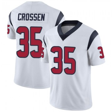 Men's Nike Houston Texans Keion Crossen White Vapor Untouchable Jersey - Limited