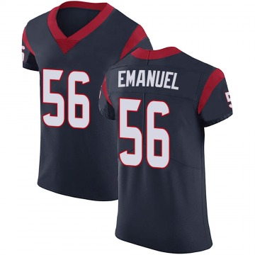 Men's Houston Texans Kyle Emanuel Navy Blue Team Color Vapor Untouchable Jersey - Elite