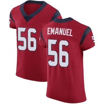 Men's Houston Texans Kyle Emanuel Red Alternate Vapor Untouchable Jersey - Elite