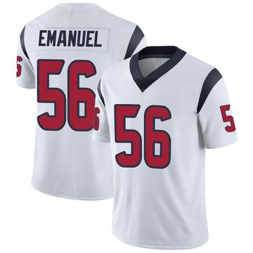 Men's Nike Houston Texans Kyle Emanuel White Vapor Untouchable Jersey - Limited