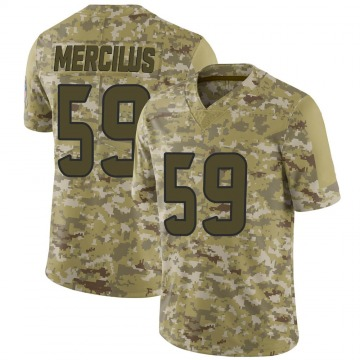 Men's Nike Houston Texans Whitney Mercilus Camo 2018 Salute to Service Jersey - Limited