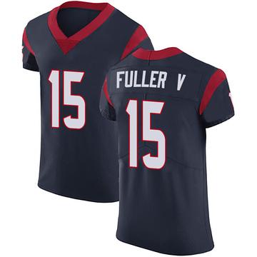 Men's Houston Texans Will Fuller V Navy Blue Team Color Vapor Untouchable Jersey - Elite