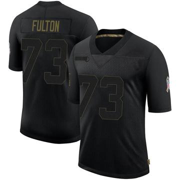 Men's Houston Texans Zach Fulton Black 2020 Salute To Service Jersey - Limited