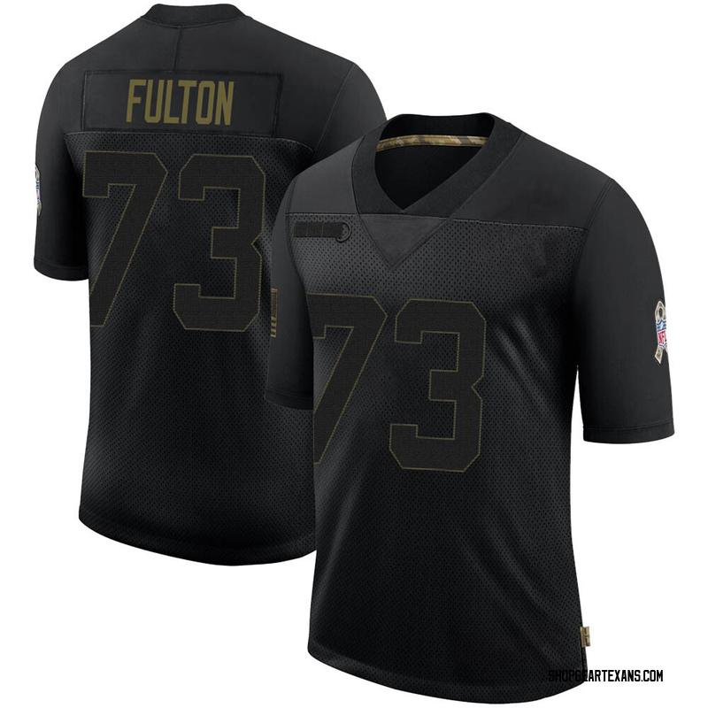 Men's Nike Houston Texans Zach Fulton Black 2020 Salute To Service Jersey - Limited