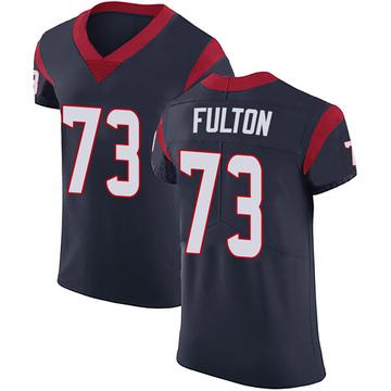 Men's Houston Texans Zach Fulton Navy Blue Team Color Vapor Untouchable Jersey - Elite
