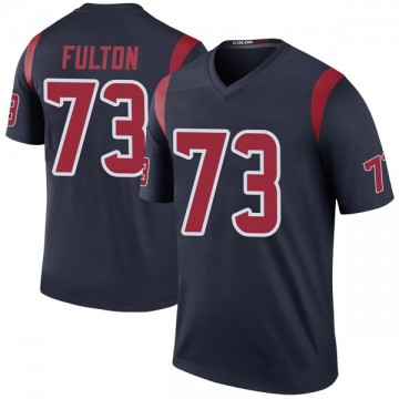 Men's Houston Texans Zach Fulton Navy Color Rush Jersey - Legend