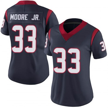 Women's Nike Houston Texans A.J. Moore Navy 100th Vapor Jersey - Limited