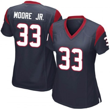 Women's Nike Houston Texans A.J. Moore Navy Blue Team Color Jersey - Game