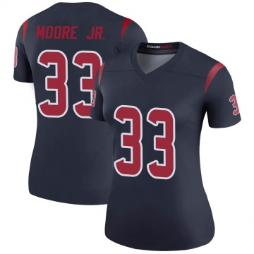 Women's Nike Houston Texans A.J. Moore Navy Color Rush Jersey - Legend