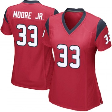 Women's Nike Houston Texans A.J. Moore Red Alternate Jersey - Game