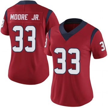 Women's Nike Houston Texans A.J. Moore Red Alternate Vapor Untouchable Jersey - Limited