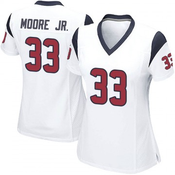 Women's Nike Houston Texans A.J. Moore White Jersey - Game
