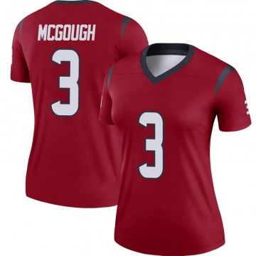 Women's Nike Houston Texans Alex McGough Red Jersey - Legend