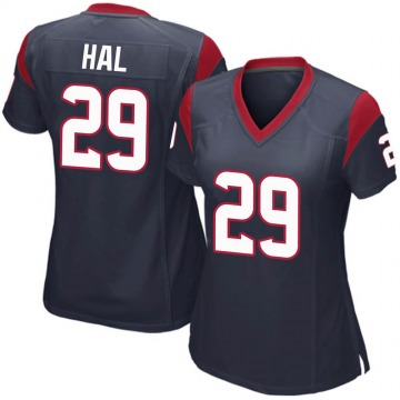 Women's Nike Houston Texans Andre Hal Navy Blue Team Color Jersey - Game
