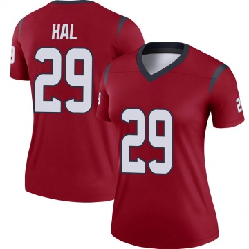 Women's Nike Houston Texans Andre Hal Red Jersey - Legend