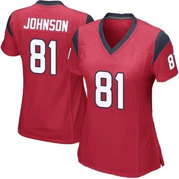 Women's Nike Houston Texans Andre Johnson Red Alternate Jersey - Game