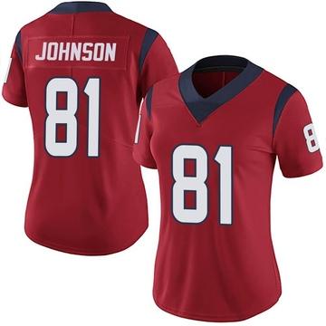 Women's Nike Houston Texans Andre Johnson Red Alternate Vapor Untouchable Jersey - Limited