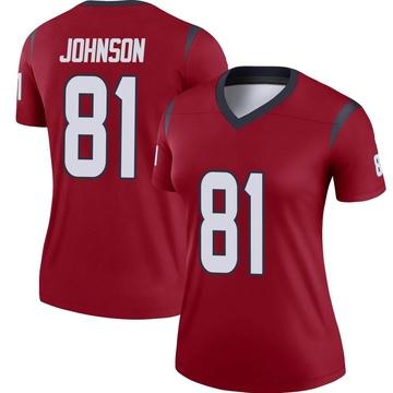 Women's Nike Houston Texans Andre Johnson Red Jersey - Legend