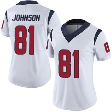 Women's Nike Houston Texans Andre Johnson White Vapor Untouchable Jersey - Limited