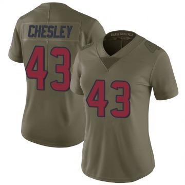 Women's Nike Houston Texans Anthony Chesley Green 2017 Salute to Service Jersey - Limited
