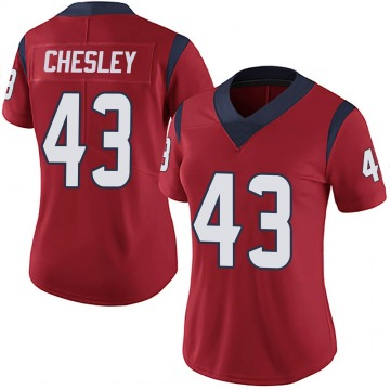 Women's Nike Houston Texans Anthony Chesley Red Alternate Vapor Untouchable Jersey - Limited