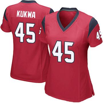 Women's Nike Houston Texans Anthony Kukwa Red Alternate Jersey - Game