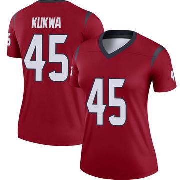 Women's Nike Houston Texans Anthony Kukwa Red Jersey - Legend
