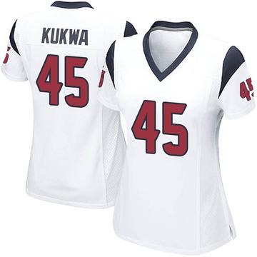 Women's Nike Houston Texans Anthony Kukwa White Jersey - Game