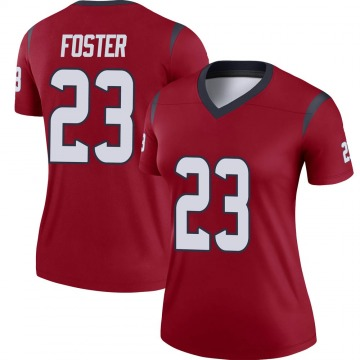 Women's Nike Houston Texans Arian Foster Red Jersey - Legend