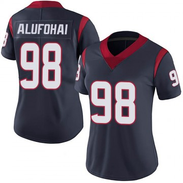 Women's Nike Houston Texans Auzoyah Alufohai Navy 100th Vapor Jersey - Limited