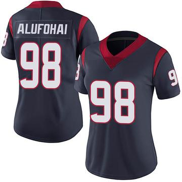 Women's Nike Houston Texans Auzoyah Alufohai Navy Blue Team Color Vapor Untouchable Jersey - Limited