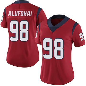 Women's Nike Houston Texans Auzoyah Alufohai Red Alternate Vapor Untouchable Jersey - Limited