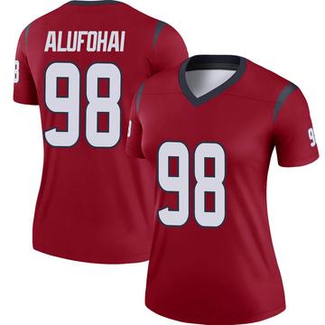 Women's Nike Houston Texans Auzoyah Alufohai Red Jersey - Legend