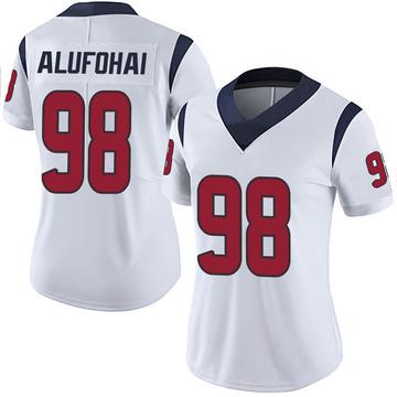 Women's Nike Houston Texans Auzoyah Alufohai White Vapor Untouchable Jersey - Limited