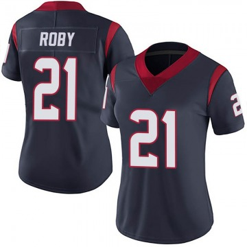 Women's Nike Houston Texans Bradley Roby Navy Blue Team Color Vapor Untouchable Jersey - Limited
