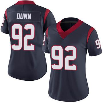 Women's Nike Houston Texans Brandon Dunn Navy 100th Vapor Jersey - Limited