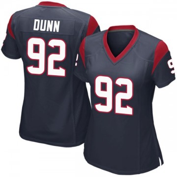 Women's Nike Houston Texans Brandon Dunn Navy Blue Team Color Jersey - Game