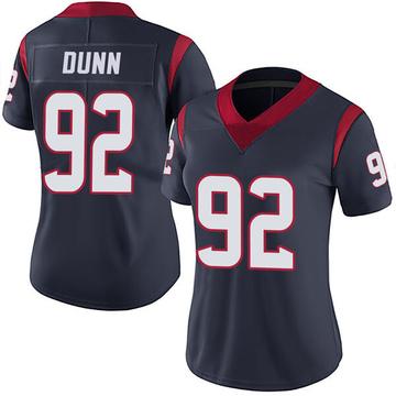 Women's Nike Houston Texans Brandon Dunn Navy Blue Team Color Vapor Untouchable Jersey - Limited