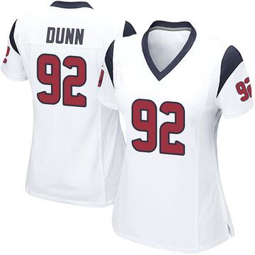 Women's Nike Houston Texans Brandon Dunn White Jersey - Game