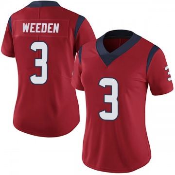 Women's Nike Houston Texans Brandon Weeden Red Alternate Vapor Untouchable Jersey - Limited