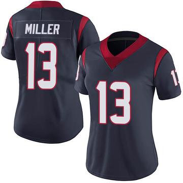 Women's Nike Houston Texans Braxton Miller Navy 100th Vapor Jersey - Limited