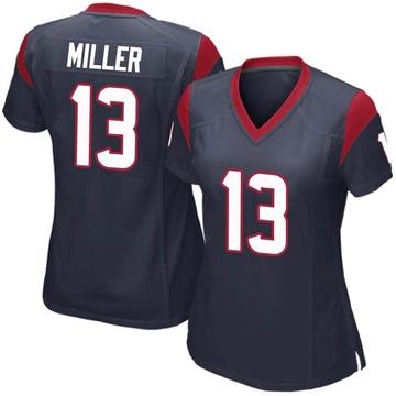 Women's Nike Houston Texans Braxton Miller Navy Blue Team Color Jersey - Game