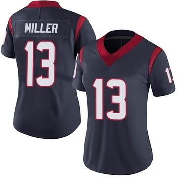 Women's Nike Houston Texans Braxton Miller Navy Blue Team Color Vapor Untouchable Jersey - Limited