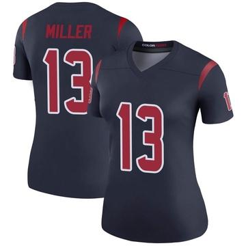 Women's Nike Houston Texans Braxton Miller Navy Color Rush Jersey - Legend
